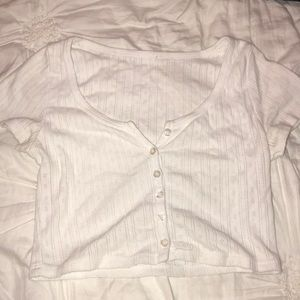 White cropped Brandy Melville top